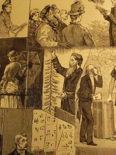 Drawing of Tylor presenting at the British Association for the Advancement of Science. From The Graphic, Saturday September 10,