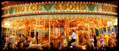 The gallopers at St Giles Fair, 2006. Photograph by kind permission of Suzy Prior.