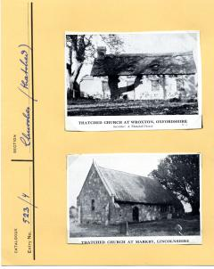 1965.5.1.36-7 Thatched churches, Lincolnshire and Oxfordshire. Cuttings from Country Life circa 1951