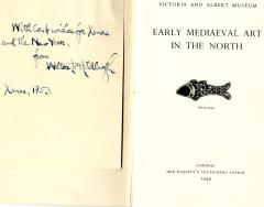 Inside cover of one of the pamphlets in Ettlinger's collection in the Balfour Library.