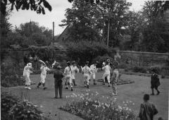 1965.5.1.220 Bampton morris dancers, Oxfordshire 1948. Photograph Topical Press Agency, donated by Ettlinger