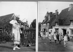 1965.5.1.221-2 Bampton morris dancers, Oxfordshire, 1948. Photograph Topical Press Agency, donated by Ettlinger