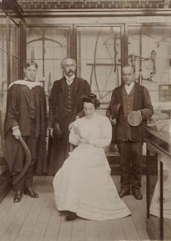 Francis Knowles, Henry Balfour, J.A. Harley, and Barbara Freire-Marecco in the Pitt Rivers Museum 1998.266.3