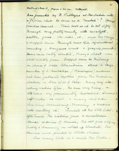 Pitt Rivers Museum, Manuscript Collections, Balfour Papers 1/7, diary of a voyage to Australia (1914), p.66.
