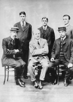 Diploma in Anthropology Class of 1910-11, Front Row Henry Balfour, Arthur Thomson and R.R. Marett