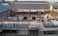 The new extension being built, 31 January 2006