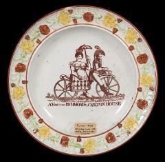 1897.69.8A Front of the plate showing the Prince Regent and Maria Anne Fitzherbert.