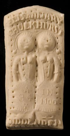 1902.60.4 Biddenden Maids biscuit.