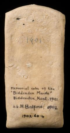 1902.60.4 Biddenden Maids biscuit (back view)
